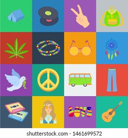 Happy and attribute cartoon icons in set collection for design. Happy and accessories bitmap symbol stock web illustration.
