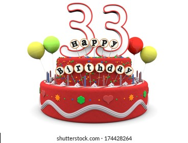33 Birthday Images Stock Photos Vectors