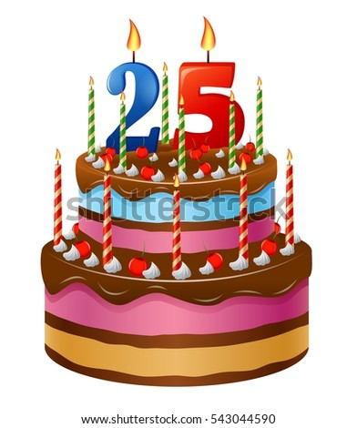 Happy Birthday Cake 25