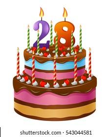 28 Birthday Images, Stock Photos & Vectors | Shutterstock