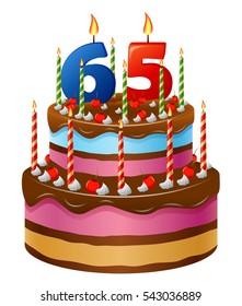 Happy Birthday cake 65