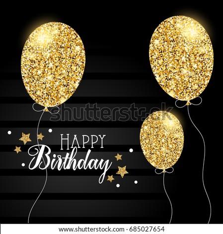Happy Birthday Card With Glitter