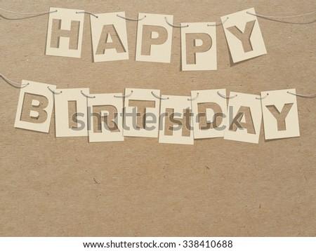 Happy Birthday Card On Robe Recycle Stock Illustration 338410688