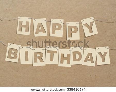 Happy Birthday Card On Robe Recycle Stock Illustration 338410694