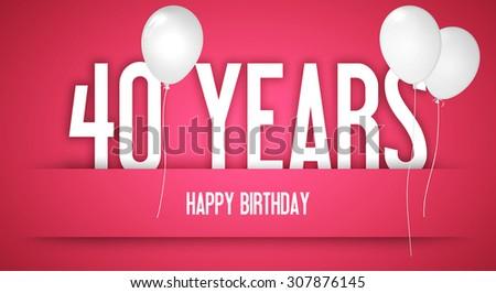 Royalty Free Stock Illustration Of Happy Birthday Card Ribbon 40