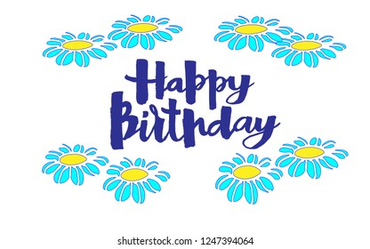 happy birthday with flawers