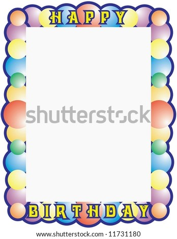 Happy Birthday Frame Ready Your Message Stock Illustration 11731180 ...