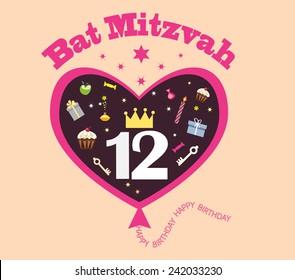 Happy Birthday Greeting Card For Girljewish Religious Majority