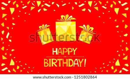 Royalty Free Stock Illustration Of Happy Birthday Greeting Card