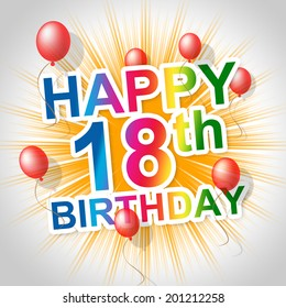 Happy Birthday Indicating Celebrate Celebrating And 18