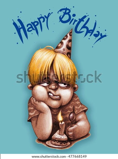 Happy Birthday My Son Funny Color Stock Illustration 477668149