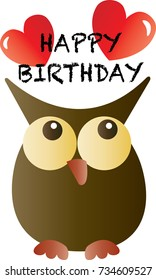 happy birthday from a sweet little adorable owl