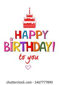 Happy Birthday Cake Images, Stock Photos & Vectors
