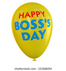 Happy Boss's Day balloon.