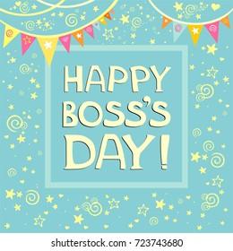 Happy Boss's day.  Illustration
