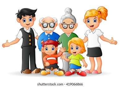 cartoon family images stock photos vectors shutterstock rh shutterstock com cartoon family pictures uk cartoon family pictures free download