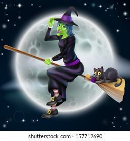 Witch On A Broomstick Images Stock Photos Vectors Shutterstock