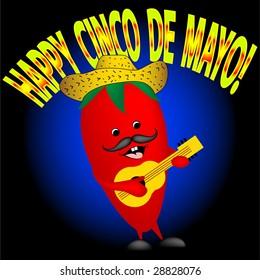 Happy Cinco De Mayo. Happy pepper singing
