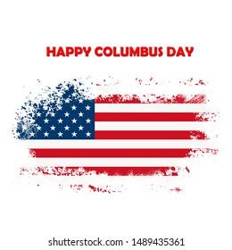 Happy Columbus Day National Usa Holiday Greeting Card