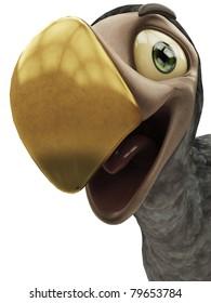 happy dodo is smiling