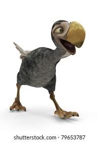 happy dodo is walking