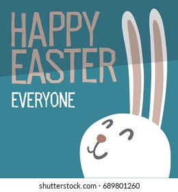 Happy Easter Everyone. Easter Bunny Ears  raster Illustration.