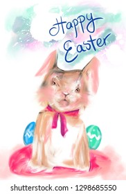 Happy Easter, greeting card