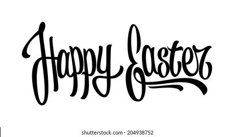 Happy easter hand drawn lettering (raster version)