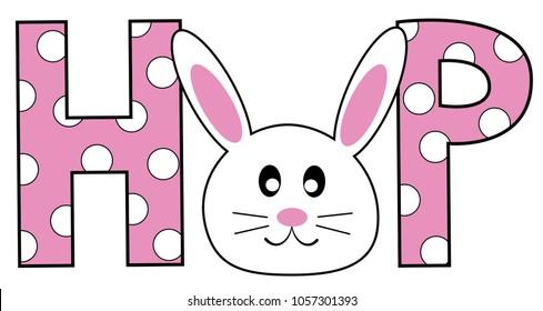 Happy Easter Hop Bunny
