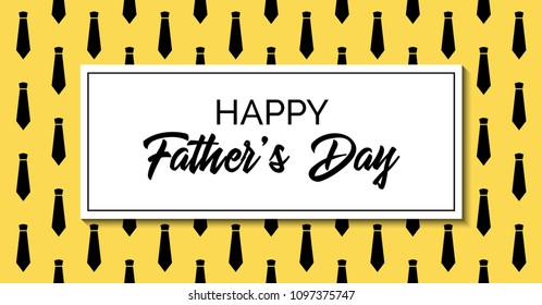 Happy fathers day greeting card. Stylish fashion template with neckties. Raster version