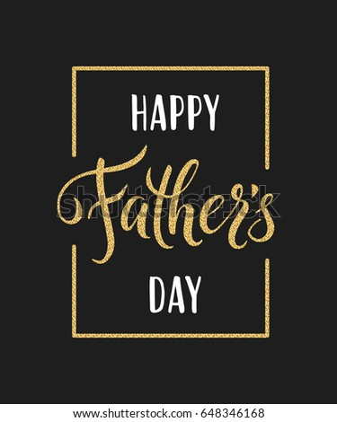 Happy fathers day greeting hand drawn stock illustration 648346168 happy fathers day greeting hand drawn lettering for greeting card m4hsunfo