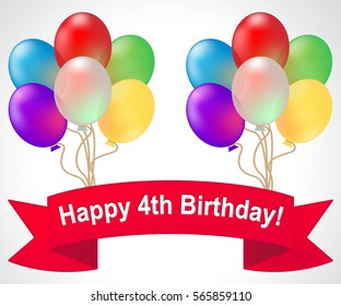 4th Birthday Images, Stock Photos & Vectors | Shutterstock