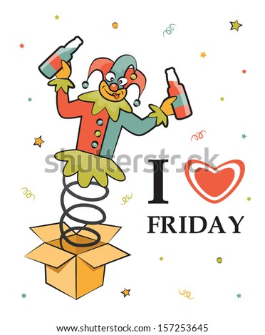 Royalty Free Stock Illustration Of Happy Friday Cute Illustration