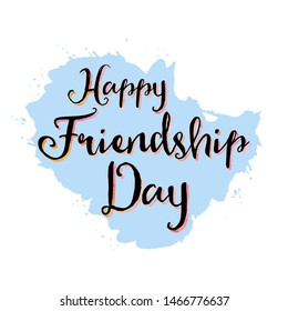 Happy Friendship Day With (White & Skyblue Background)