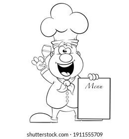 Happy Fun Chef Cook Cartoon