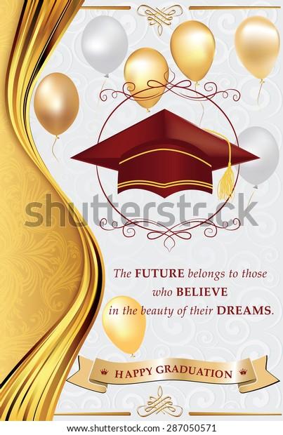 Happy Graduation Greeting Card Print Congratulation Stock