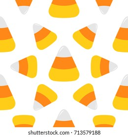 Candy Corn Big Seamless Pattern Wrapping Paper Textile Template