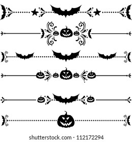 Happy Halloween! Collection of design elements isolated on White background. illustration