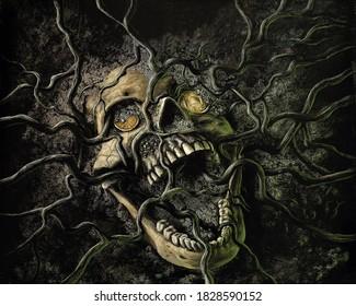happy halloween horror background image
