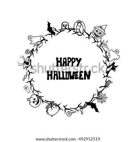 happy halloween vintage badges halloween card stock illustration