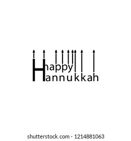 Happy hanukkah Design icon. Element of hanukkah icon for mobile concept and web apps. Detailed Happy hanukkah Design icon can be used for web and mobile
