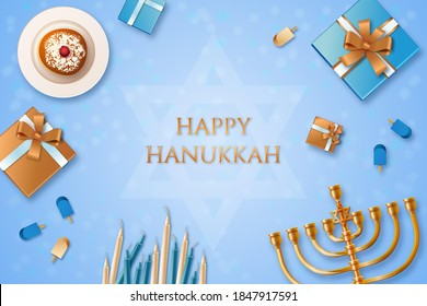 Happy Hanukkah Wishes, Background, Greeting
