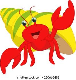 happy hermit crab cartoon
