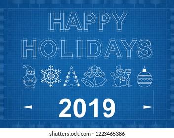 Happy Holidays 2019 Blueprint
