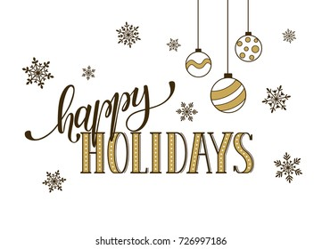 happy holidays postcard template modern newのイラスト素材 726673993