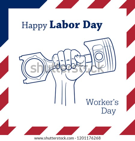 happy labor day banner design template stock illustration 1201176268
