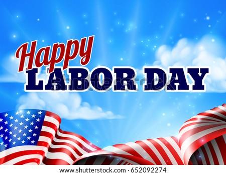 happy labor day design american flagのイラスト素材 652092274
