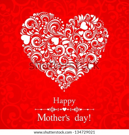 happy mothers day card design illustration stock illustration