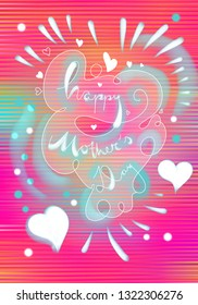Happy Mother's Day, greeting card design