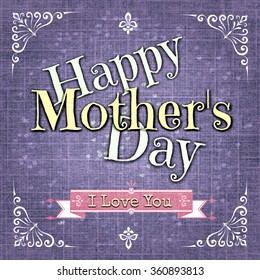 Happy Mothersday greeting card